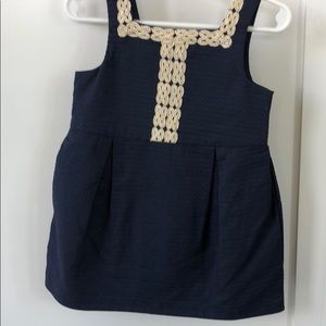 Navy toddler Janie and Jack dress